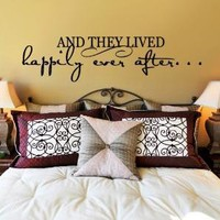 And they lived happily ever after  WALL DECAL  by decorexpressions