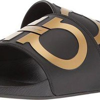 VONW3Q Salvatore Ferragamo Men's Groove 2 Slides