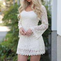 Francine IVORY Lace Dress Long Sleeve
