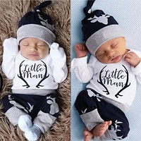 """Little Man"" 3-Piece Infant Baby Boys Clothing Set"