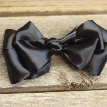 5.5'' Silky Hair Bow by Mandy Lou {Several Colors Available}