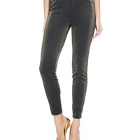 Gold Lurex Ponte 5 Pocket Jean by Juicy Couture