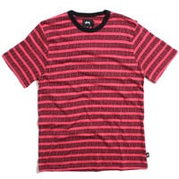 Spiral Stripe Crew T-Shirt Red