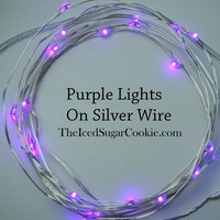 Purple LED Battery Operated Lights