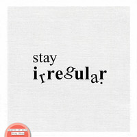 Black and white typography, black and white art, clever print, be different quote, inspirational quotes, square wall art, stay irregular