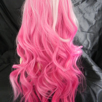 HALLOWEEN SALE Shades of Pink / Long Straight Layered Wig