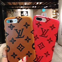 Louis Vuitton LV Stylish Women Men Personality iPhone Phone Cover Case For iphone 6 6s 6plus 6s-plus 7 7plus 8 8plus X +Soft Shell I12269-1