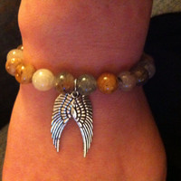 Angel wings stretch bracelet
