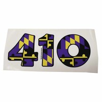 """410"" Baltimore Football Purple & Gold Maryland Flag / Sticker"