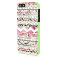 Girly Floral Tribal Andes Aztec iPhone 5 Case Framed Green