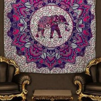 Elephant Printing Indian Mandala Tapestry Hippie Home Decorative Wall Hanging Tapestries Cotton Beach Towel Yoga Mat New Design