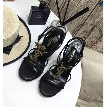 ysl women casual shoes boots fashionable casual leather women heels sandal shoes 12