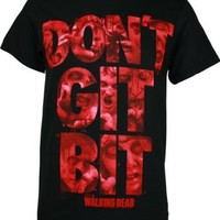 The Walking Dead Dont GET BIT Mens Black TEE