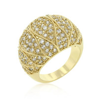 Goldeneye Clear Cubic Zirconia Cocktail Ring, size : 07