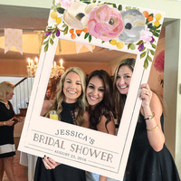 Bridal Shower Photo Prop - Wedding Photo Prop - Sweet Blooms - DIGITAL FILE - Baby Shower Photo Prop Frame - Printed Option Available