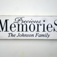 Personalized Family Name Memento Carved Sign
