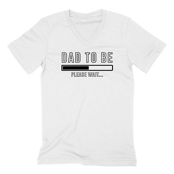 Dad to be pregnancy announcement baby reveal baby shower Mother's day gift  V Neck T Shirt