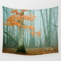 Autumn Woods Wall Tapestry by Olivia Joy StClaire