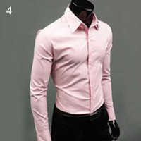 Men Luxury Casual Formal Long Sleeve Shirts size mlxl
