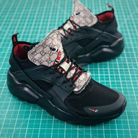 Nike Air Huarache Ultra Id Gucci Black Sport Running Shoes - Best Online Sale
