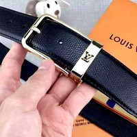 Free shipping-LV versatile casual pin buckle belt