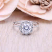925 sterling silver cubic zircinia engagement ring