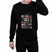 Friends TV Show Collage art f3357428-0c86-4914-9969-4811c46854e1 - Sweater for Man and Woman, S / M / L / XL / 2XL *02*