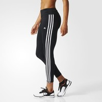 adidas Women's Basic 3-Stripes Long Tights - Black | adidas Canada