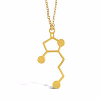 Whisky Molecule Necklace for Whisky Lovers and Enthusiasts