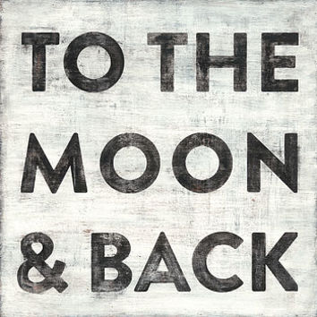 To The Moon And Back Wooden Art Print