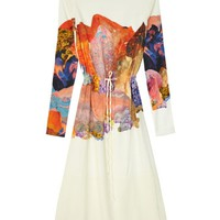 To Be Adored Lydia Collage Printed  Midi Dress