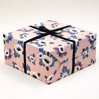 Anemone Flower Wrapping Paper Pink