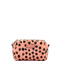 Crosby Polka-Dot Quilted Cosmetics Bag, Spring Peach - MARC by Marc Jacobs - Spring peach mult