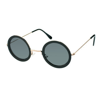 ASOS Black Metal Round Sunglasses