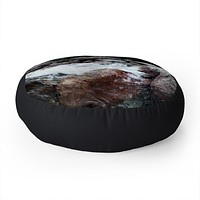Leah Flores Yosemite Creek Floor Pillow Round