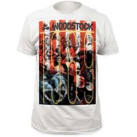 WOODSTOCK 1969 MENS BIG PRINT SUBWAY TEE