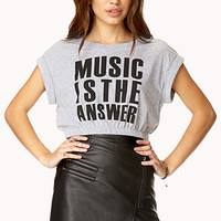 Music Is The Answer Crop Top