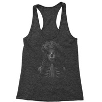 Praying Girl Day Of The Dead Racerback Tank Top for Women