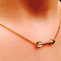 Gold Arrow Necklace