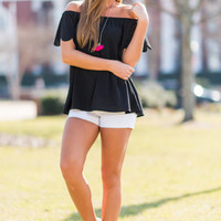 Leave Nothing To Chance Top, Black