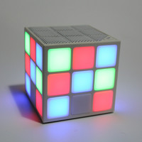 2016 New Gift Mini Magic Cube Colorful Wireless Portable Bluetooth Speaker LED Flash Light with TF Card Handsfree