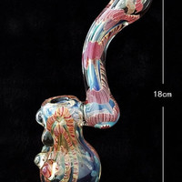 New Glass Colorfull Pipe Smoking Pipe Tobacco Pipe Glass Bong Water Pipe Bubbler Smoking Accessories