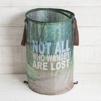 Not All Who Wander Pop Up Laundry Hamper