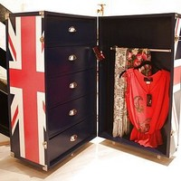 union jack trunk / mini walk in wardrobe by foxbat boutique | notonthehighstreet.com