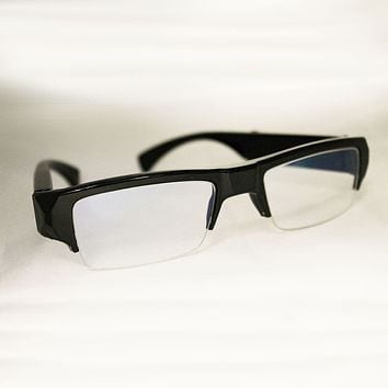 Totally Hidden Clear Lens Eyeglasses Spy Camera DVR - No Hole Camera