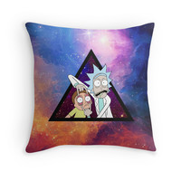 'Rick and morty spaceeee.' Throw Pillow by CODUS