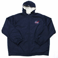 Navy Blue Kennedy Space Center Victory NASA Jacket Mens Size XL - Default Title
