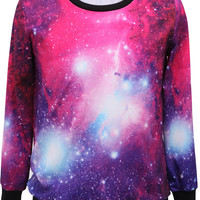 Purple Better Place Graphic Pullover