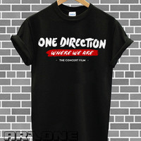 Band Shirt - One Direction Shirt 1D Where We Are T-shirt  Printed Black Color Unisex Size - AR10