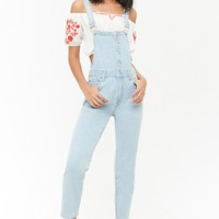 Button-Front Denim Overalls